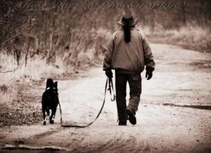 lone walker n dog