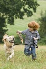 dog & redhead