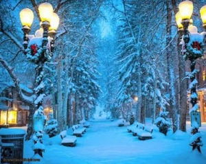 winter small town